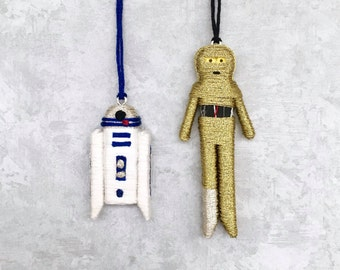 R2-D2 and C-3PO Worry Doll Ornament/Magnet/Keychain Accessory
