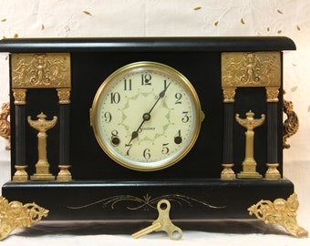 Refurbished Sessions Mantel Clock from Early 1900s