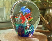 Unique Murano Paperweight Related Items Etsy