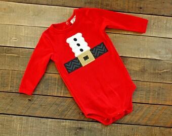 Santa suit onesie/bodysuit