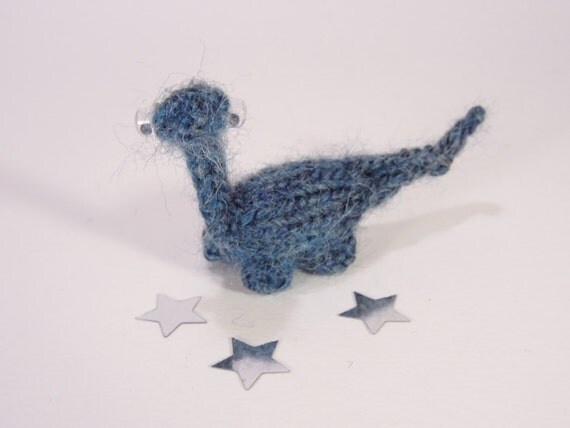 Dinosaur Dax Miniature Blue Knitted For her For him