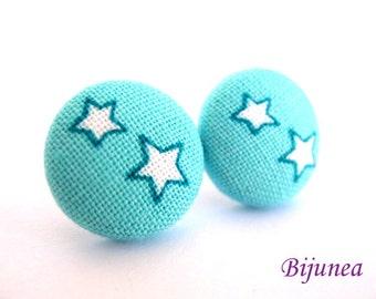 Star earrings - Blue Star studs - Star sky- Stars - Cute Star earrings - Star post earrings - Star stud earrings sf521