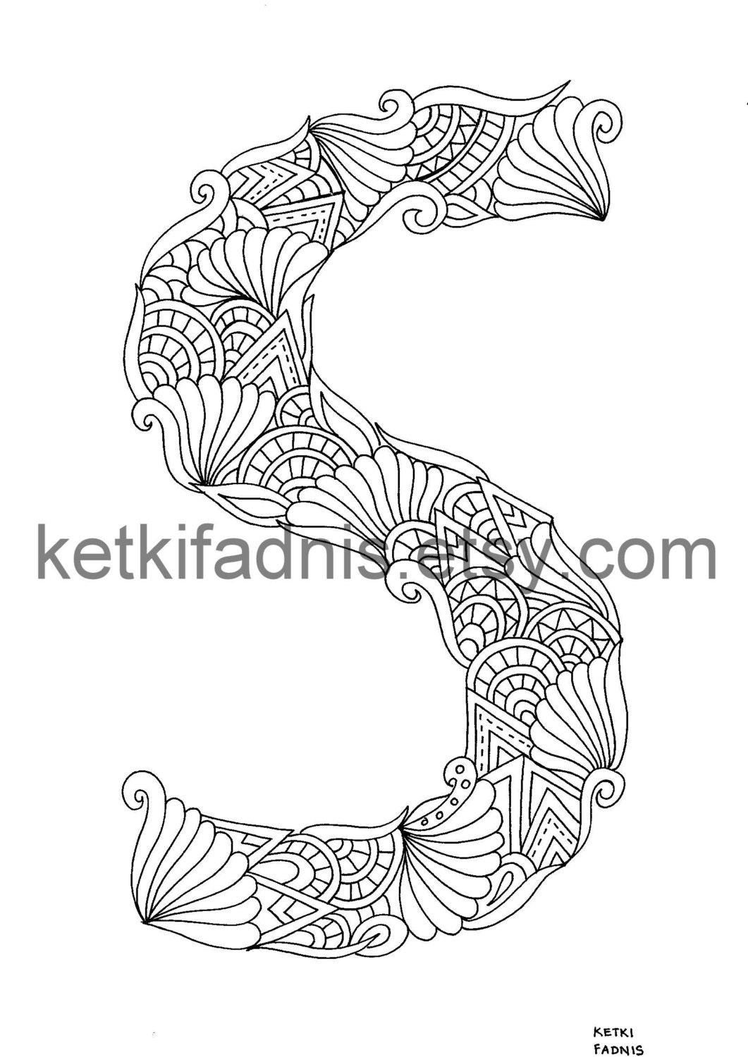 letter s coloring page instant pdf download alphabet coloring
