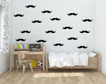 Mustache wall decals Small mustache wall sticker Nursery mustache wall decal Boy' room mustache wall sticker Mustache wall sticker