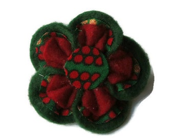 Hair Clips (Ankara)/Gifts for her/ hair accessories/green and red hair clip/