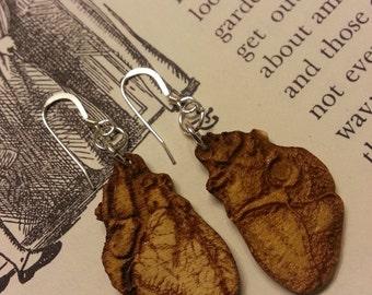 Laser Cut Anatomical Heart Earrings - Chemistry Earrings - Biology Earrings - Nerdy Gift for Her