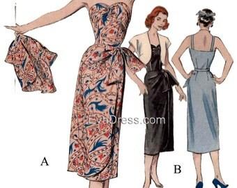 1950's Sarong & Bolero EvaDress Pattern