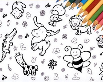 Coloring Page, Animal Coloring, Jungle Animal Coloring, Jungle Print,  Coloring Download,