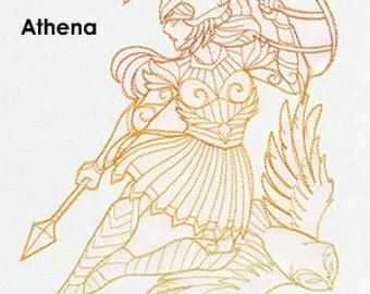 Athena Cushion Cover Embroidered Pillow god goddess Greek mythology decorative pillow