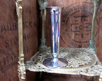 Silver Plated Vase - Small Flower Vase - Silver Posy Vase - Silver Bud Vase - Posy Vase - Vintage Vase - Posy Holder - Small Vase