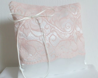 "Pillow alliances(wedding rings) ""Anita"" vintage marriage ivory and salmon"