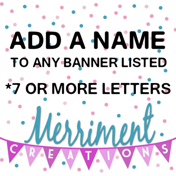 Add a name to any listing (7 or more letters)