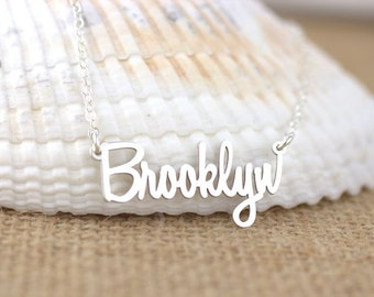 Brooklyn Necklace - Brooklyn NY, New York Necklace