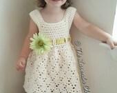 Vintage Toddler Dress Crochet Pattern - PDF DOWNLOAD ONLY - Instant Download