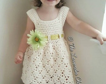 Vintage Toddler Dress Crochet Pattern - PDF DOWNLOAD ONLY - Instant Download