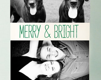 Letterpressed Merry & Bright Holiday Cards