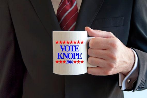 VOTE KNOPE 2016 | Parks and Rec Mug | TV Show Message Mugs | 11 oz.