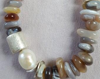 Botswana agate Pearl
