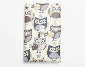 Owl decor -  Owl wall decor - Owl nursery decor - Owl light switch cover - Owl nursery wall art - Owl home decor - Owl kitchen decor