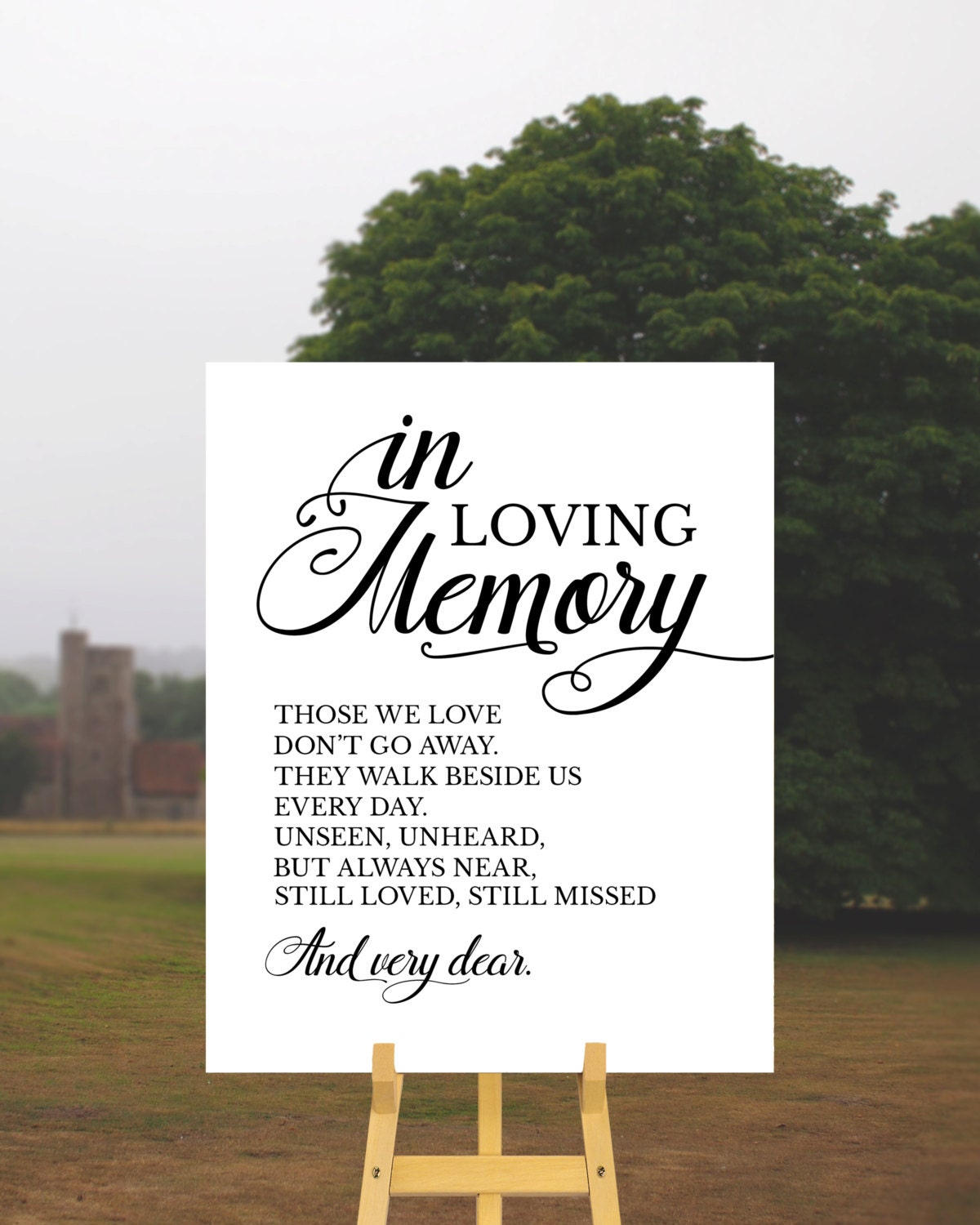 In loving memory sign wedding memorial table by for In loving memory wedding sign