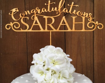 Graduation Cake Topper, Personalized Cake Topper, Custom Graduation Topper, Congratulations Cake Topper, Graduation Party