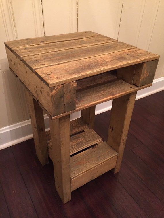 Rustic nightstand by woodsmithdesignco on etsy for Tall rustic nightstands