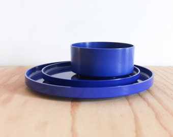 Blue Massimo Vignelli Heller 3 Piece Dish Set