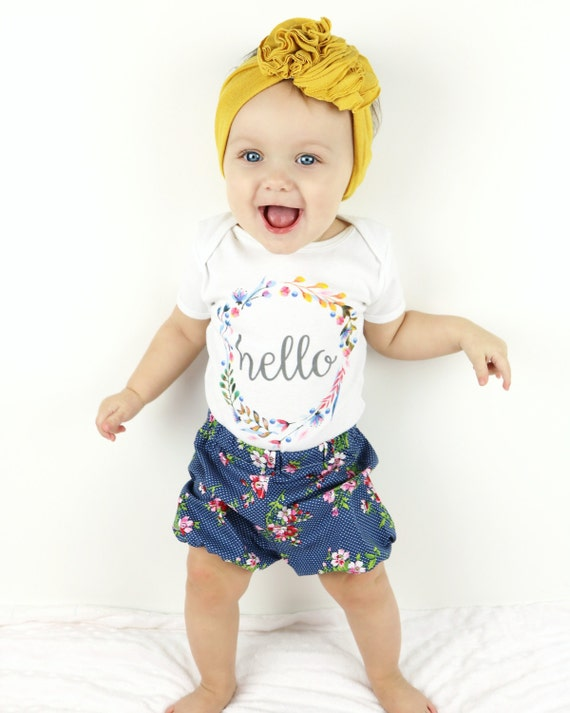 Hello World Onesie Hello World Newborn Outfit Baby by TrendyCactus