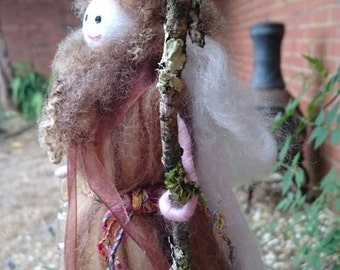 Wool Felt Fairy - Winter Wizard