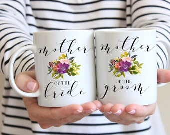 Mother of the Groom Gift, Fall Mother of the Bride Gift, Mug Set, Gift for mom, Mom Wedding Gift,  Mother of the Groom, Fall Wedding Gift