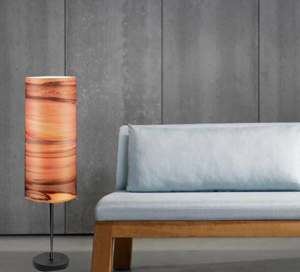 Floor Lamps Special Design Ambient Lighting Satin Walnut