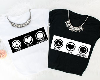 Peace Love Happiness t-shirt!