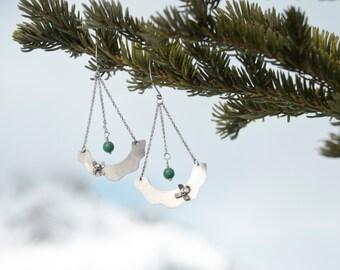 Sterling Silver Earrings | Flowers earrings | Silver earrings | Natural Gemstone | Flower Earrings | Bohemian Earrings | Statement Earrings