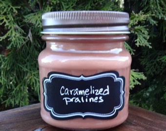 Caramelized Pralines Soy Candle/Caramelized Pralines Candle/Caramel Candle/Praline Candle/Christmas Candle/Thanksgiving Candle/Fall Candle