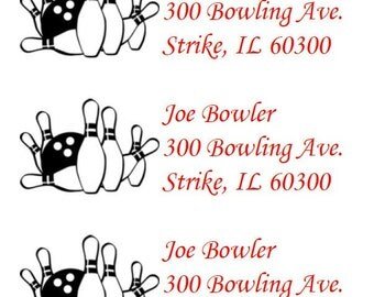 Bowling Return Address Labels