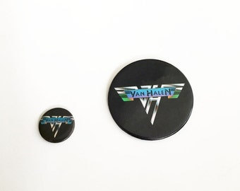 Vintage Van Halen Pinback Buttons Set of Two