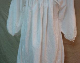 Chemise, Women's Cotton/Linen Period, Elizabethan, SCA, LARP, Renn Faire, Nightgown, Medieval