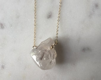 Layering Necklace of White Quartz