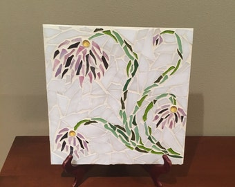 Flowering Vines: Stained Glass Mosaic Art
