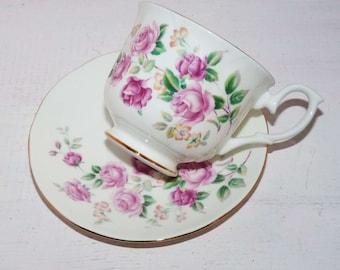 Dutchess  Teacup & Saucer Bone China England Roses -  778