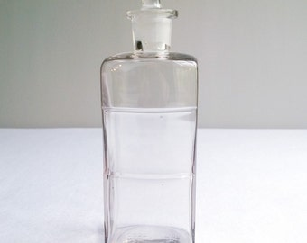 Antique Apothecary Pharmacy Bottle with Pretty Stopper
