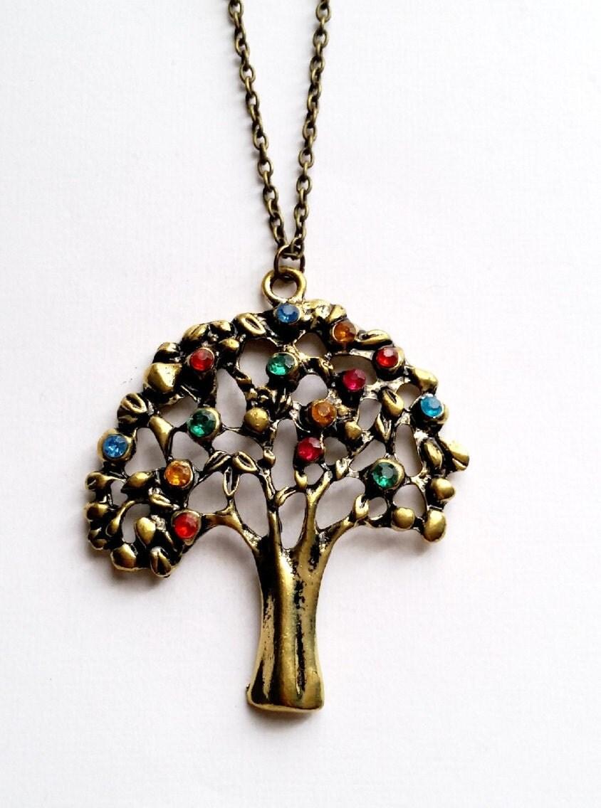 money tree pendant colorful money tree necklace