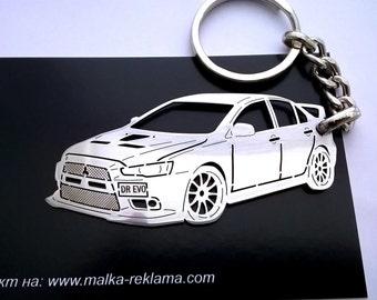 Mitsubishi Evo X, Mitsubishi keychain, Mitsubishi, Mitsubishi lancer, Keychain for Mitsubishi evo, personalised keyring, birthday gift