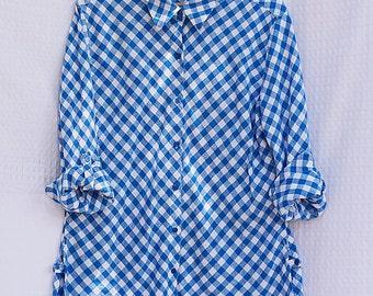 70s Gingham Shirt