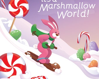 It's a Marshmallow World! - 8x8 inch Print