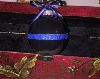 Thin Blue Line Ornament or Door Hanger