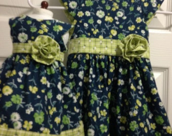 Matching Girl and AG Doll dresses