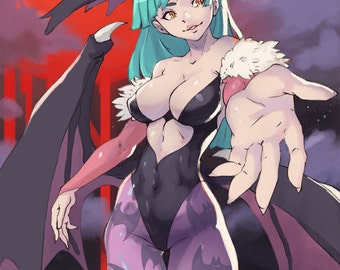 Darkstalkers Morrigan Aensland Original Anime Pin Up