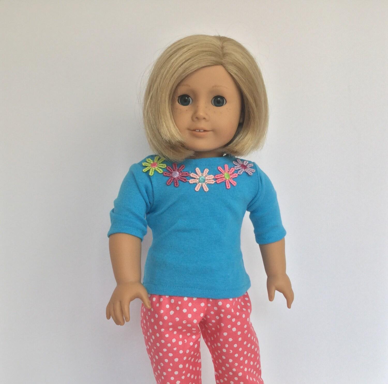 American girl doll clothes shirt t shirt long sleeve shirt for American girl t shirt craft