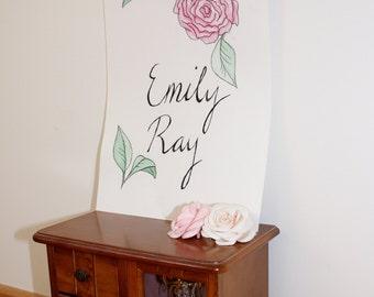 Custom Baby Name Painting